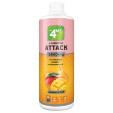 L-Carnitine Attack 3600mg 4me, 1000 мл