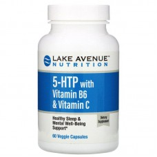 5-HTP with Vitamin B6 & Vitamin C, Lake Avenue, 60 капс.