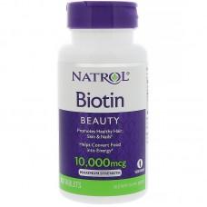 Biotin 10000 мкг, 100 табл.