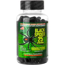 Black Spider 25 ephedra 100 капс.